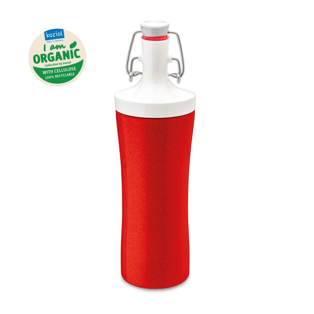 PLOPP TO GO Water Bottle 425ml organic red-cotton white