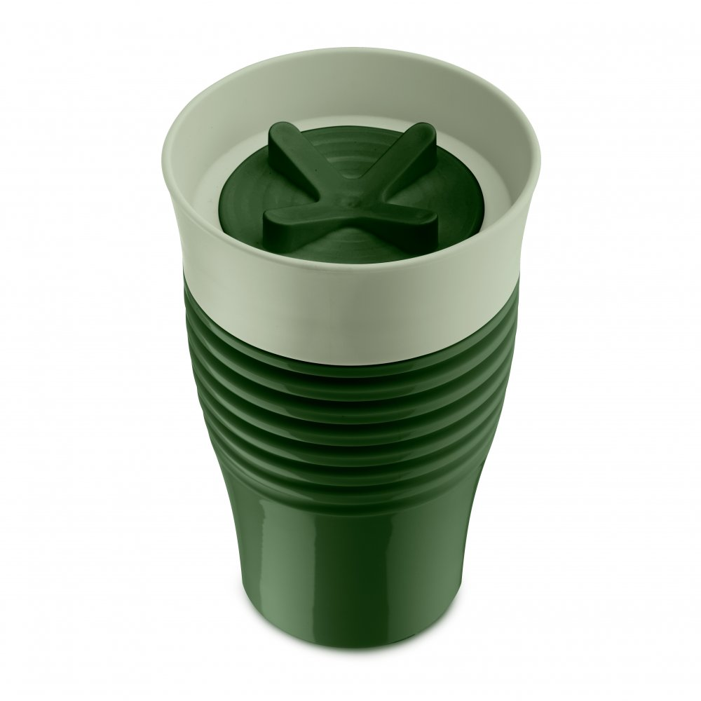 SAFE TO GO Thermobecher 400ml forest green-eucalyptus green