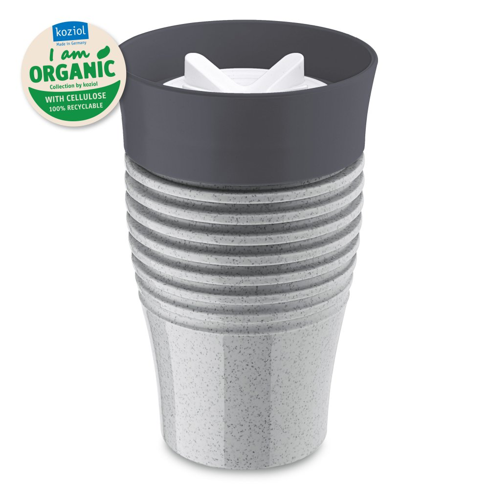 SAFE TO GO ORGANIC Insulated Cup 400ml organic grey