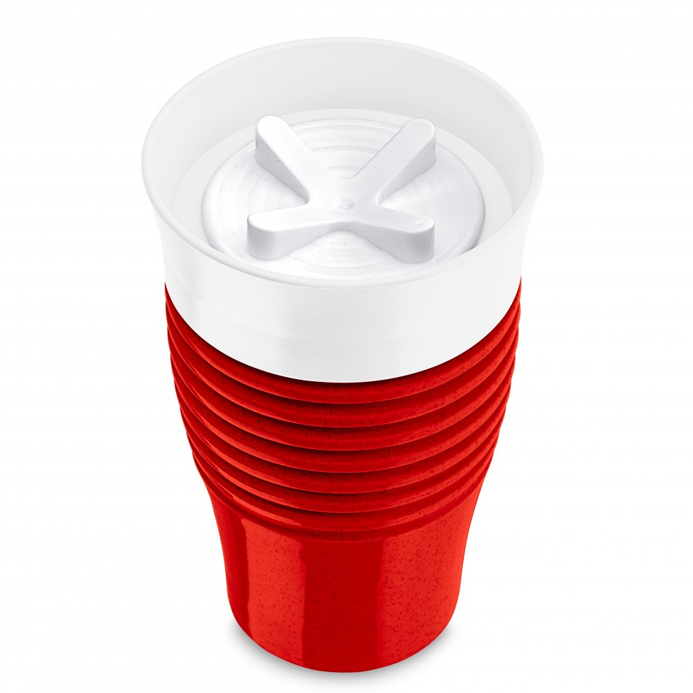 SAFE TO GO Insulated Cup 400ml organic red