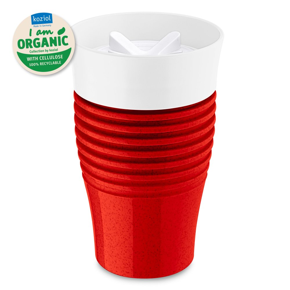 SAFE TO GO Thermobecher 400ml organic red