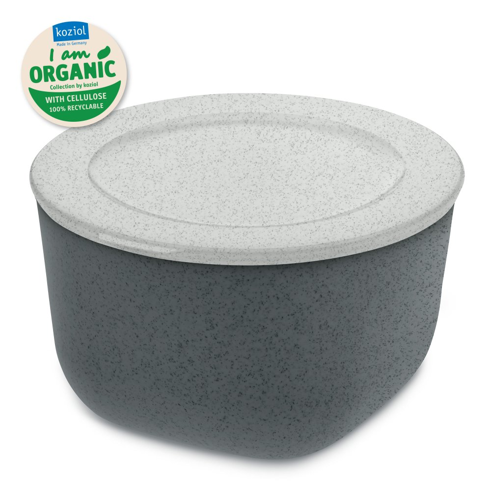CONNECT M ORGANIC Box with lid 1l organic deep grey