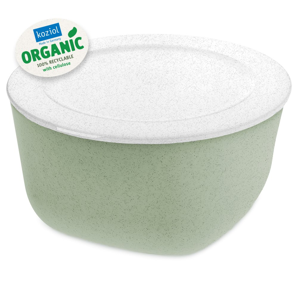 CONNECT BOX 4 Box with lid 4l organic green-organic white