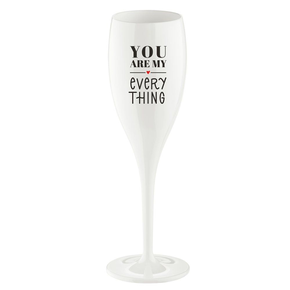 CHEERS NO. 1 YOU ARE MY EVERY THING Superglas 100ml with print cotton white