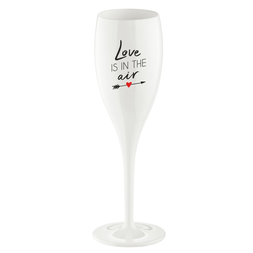 CHEERS NO. 1 LOVE IS IN THE AIR Superglas 100ml with print cotton white