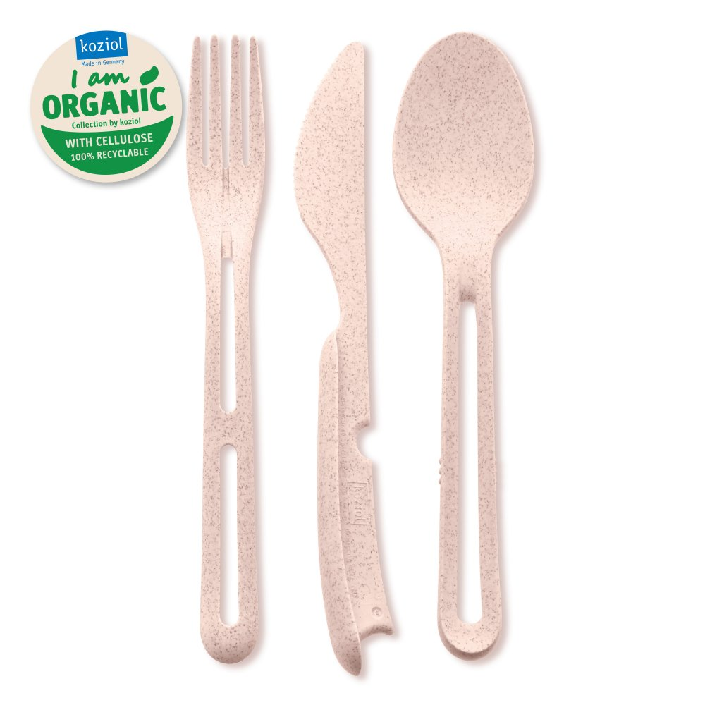 KLIKK ORGANIC Besteck-Set 3-teilig organic pink