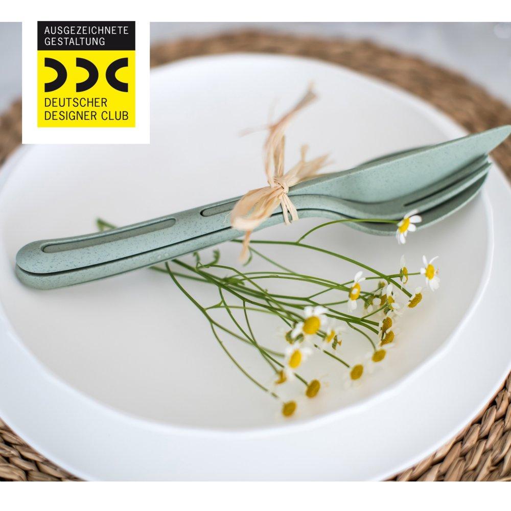 KLIKK ORGANIC Cutlery Set 3-piece