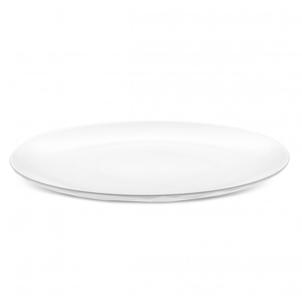 CLUB PLATE L Flacher Teller cotton white