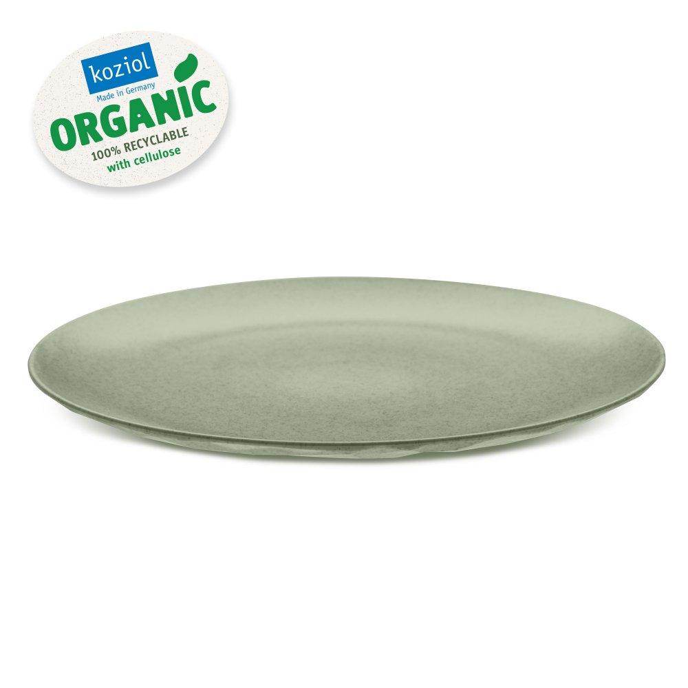 CLUB PLATE L Flacher Teller organic green
