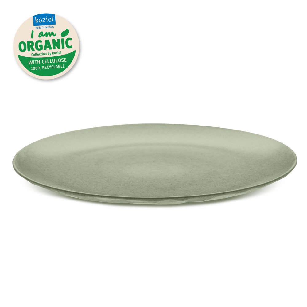 CLUB PLATE L ORGANIC Flacher Teller organic green