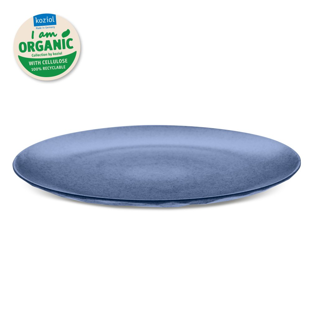 CLUB PLATE L ORGANIC Flacher Teller organic blue