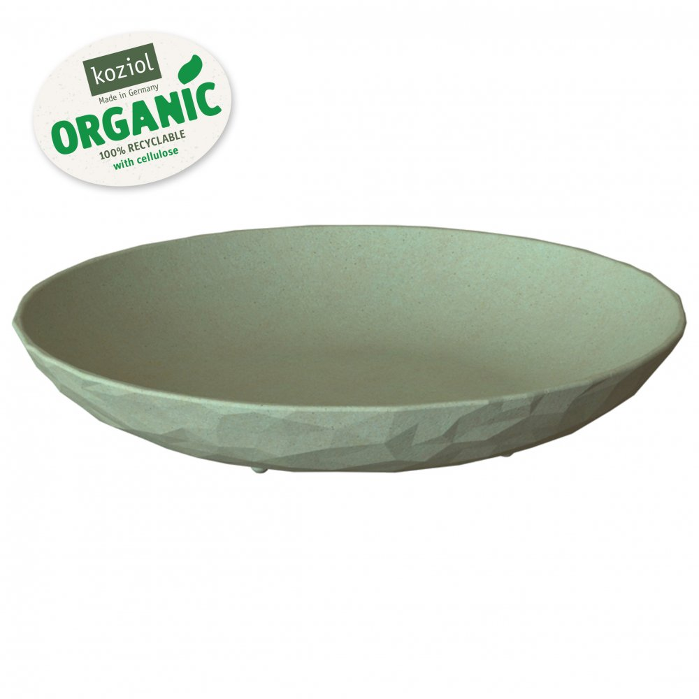 CLUB PLATE M Tiefer Teller organic green