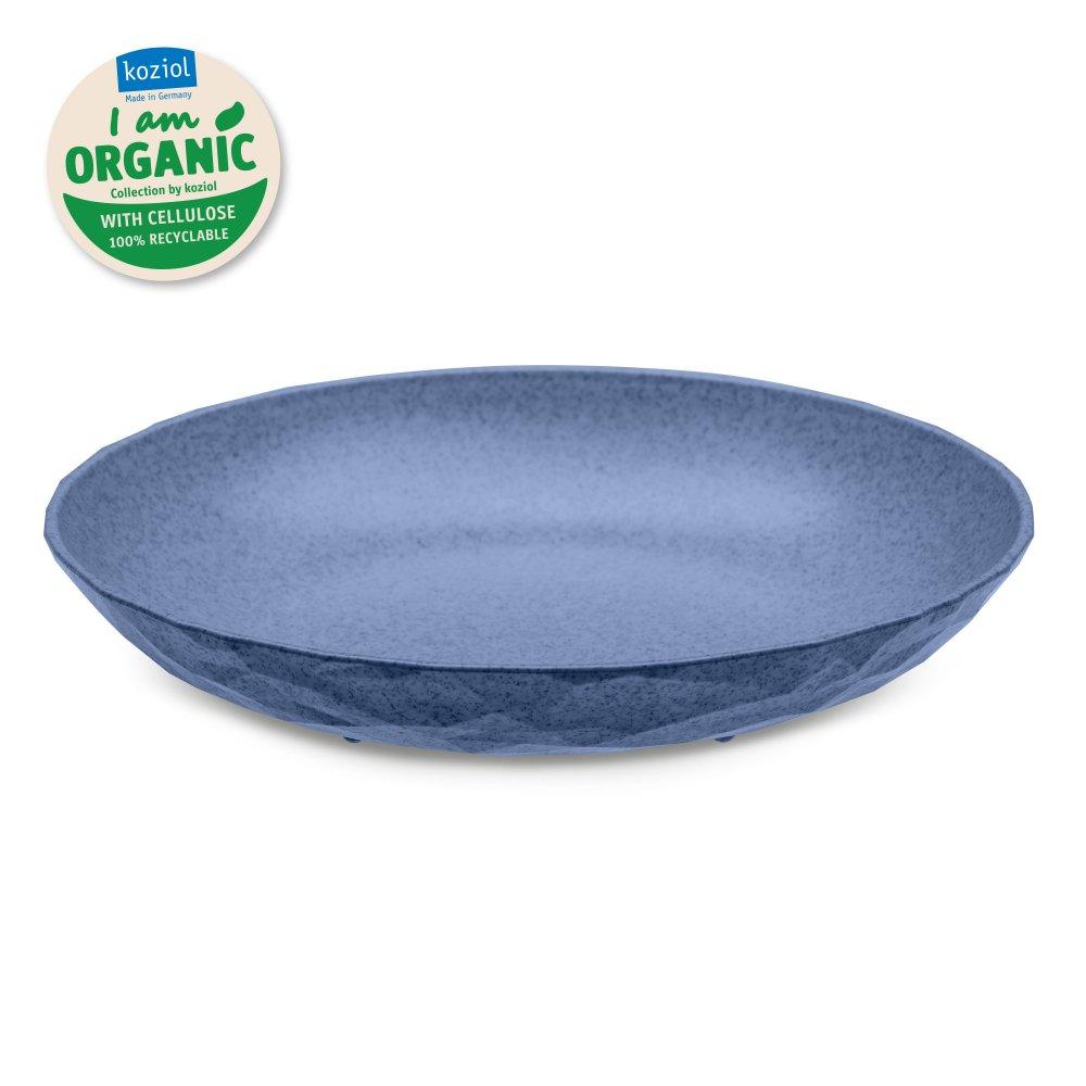 CLUB PLATE M ORGANIC Tiefer Teller organic blue