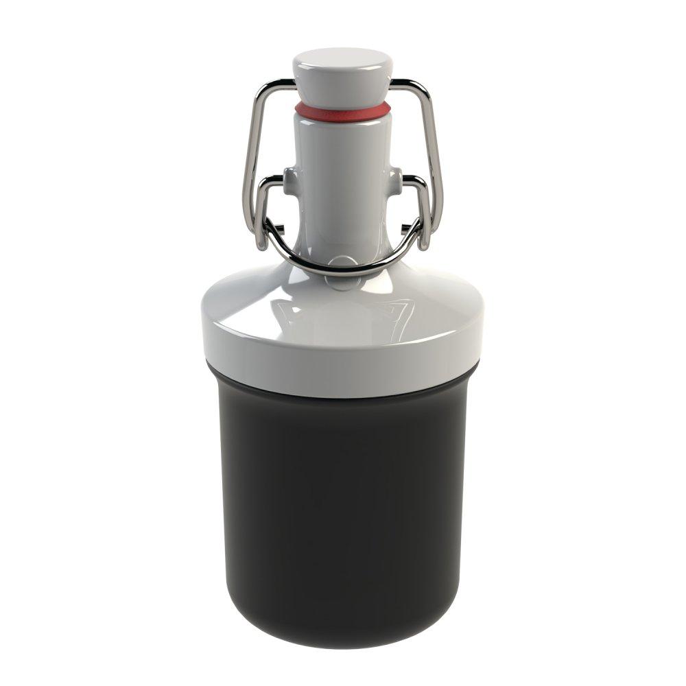 PLOPP TO GO MINI Water Bottle 200ml cosmos black-cotton white