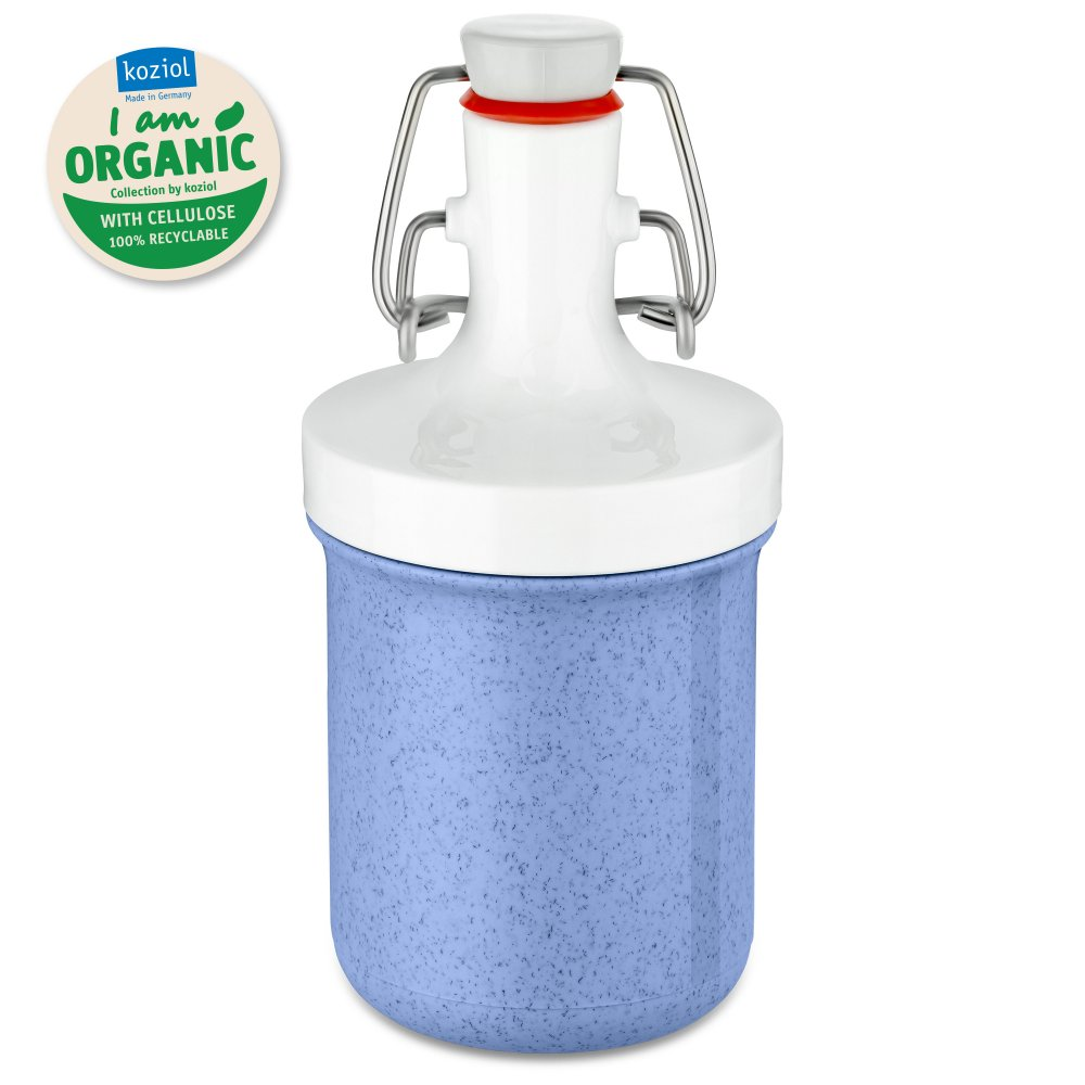 PLOPP TO GO MINI Organic Water Bottle 200ml organic blue