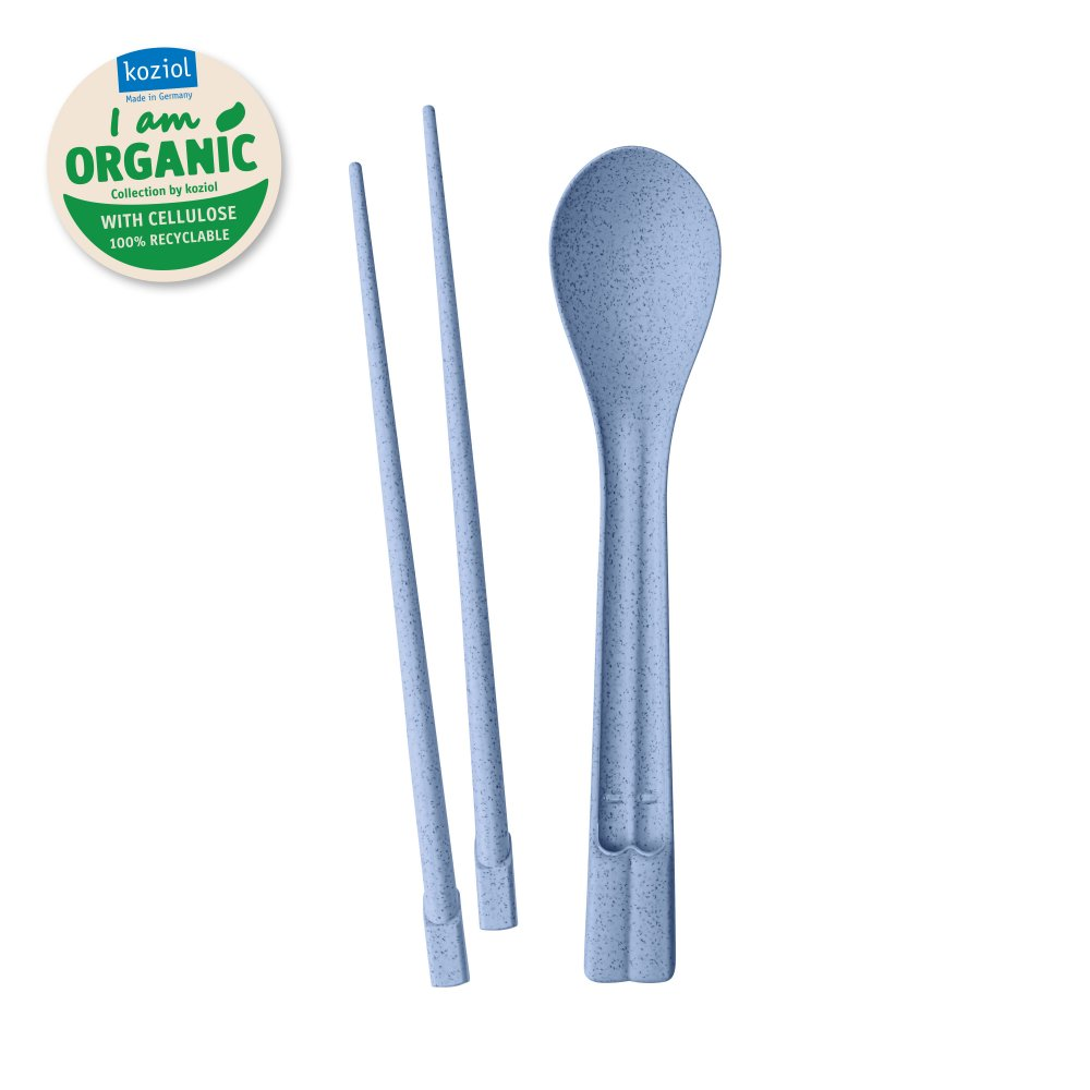 DYNASTY ORGANIC Chopsticks Spoon Set organic blue