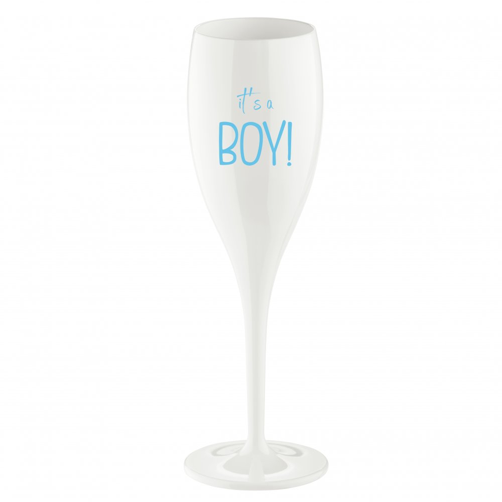 CHEERS NO. 1 IT S A BOY Superglas 100ml with print cotton white