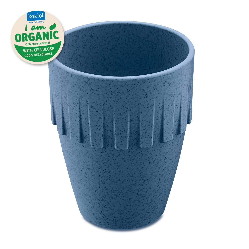 CONNECT ORGANIC Cappuccino Cup 300ml organic deep blue