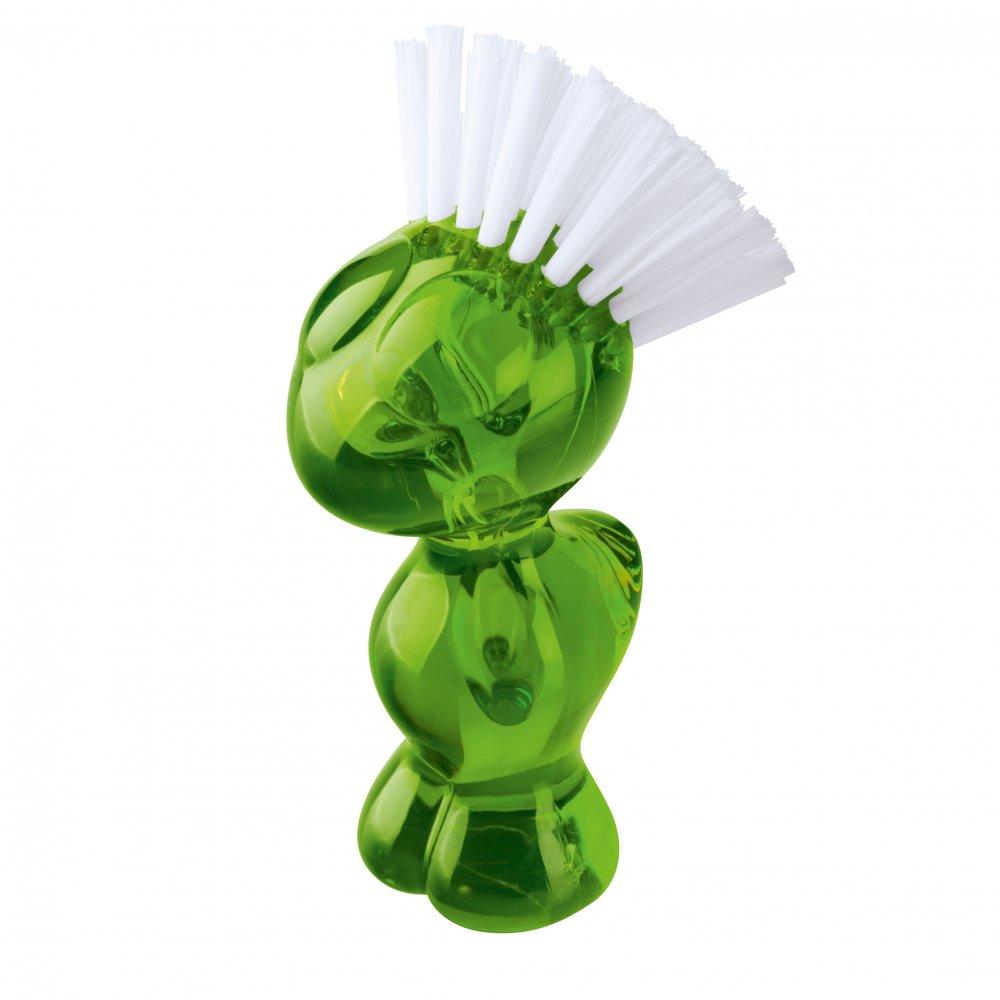TWEETIE Vegetable Brush transparent olive green