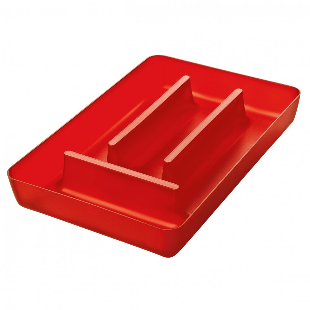 RIO Cutlery Tray transparent red