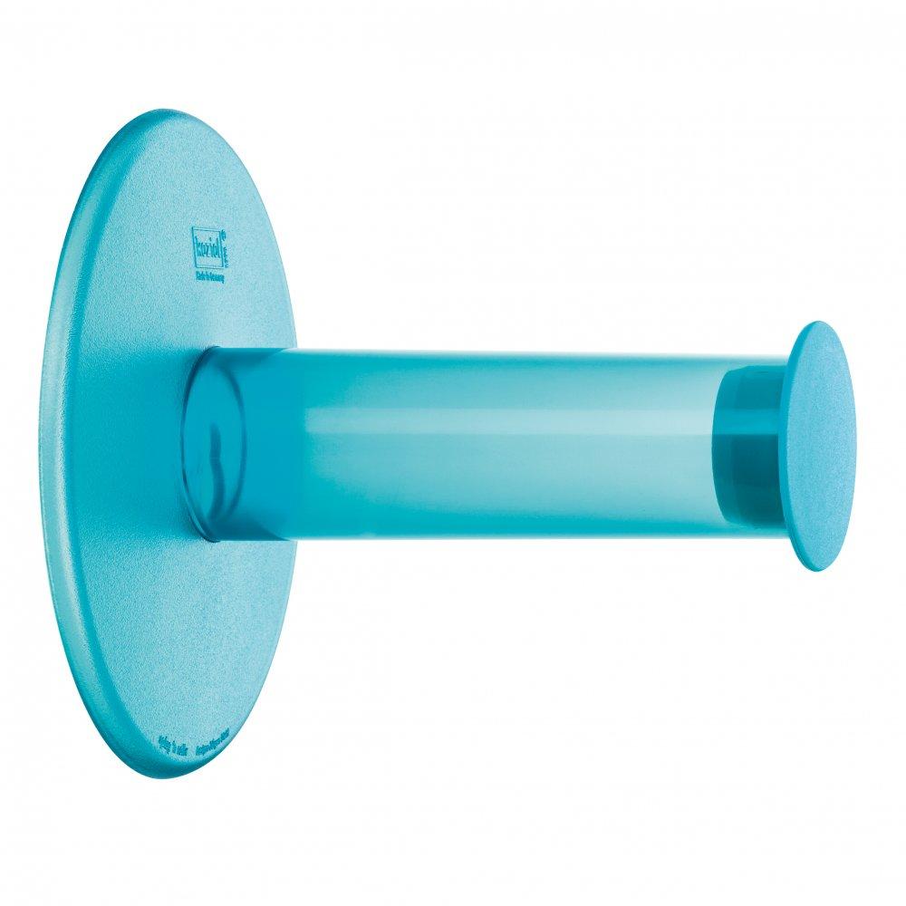 PLUG´N´ROLL WC-Rollenhalter transparent aqua