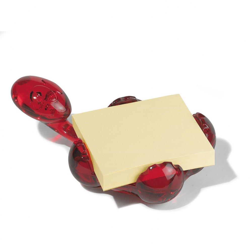 ARCHIBALD Memo Pad Holder transparent red
