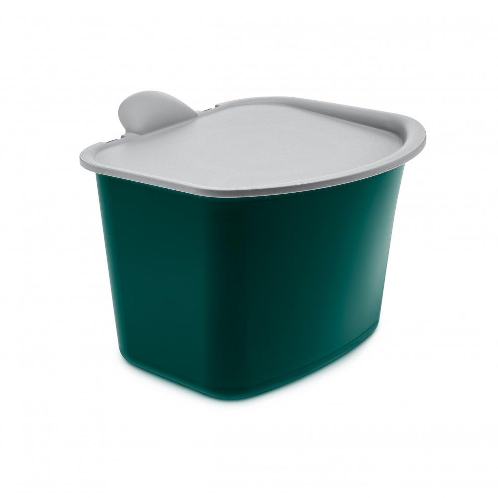 BIBO Organic Waste Bin emerald green-cool grey