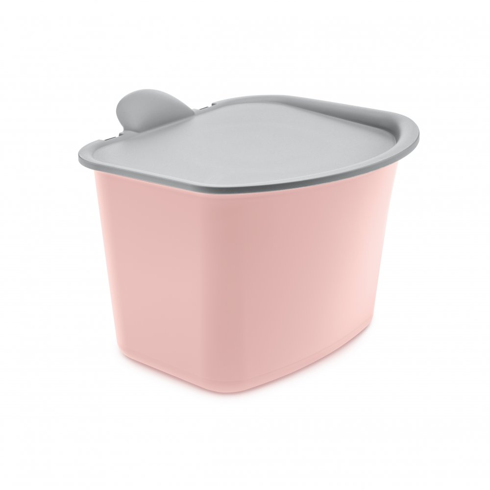 BIBO Bio Abfall Behälter powder pink-cool grey