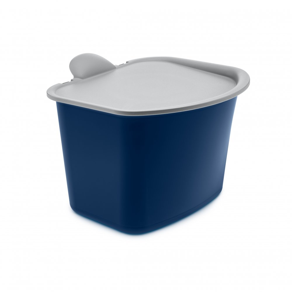 BIBO Organic Waste Bin deep velvet blue-cool grey