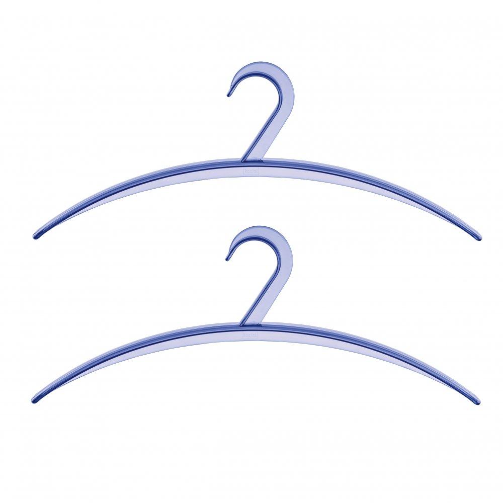 CLIFF Garderobenbügel 2er-Set transparent fresh blue