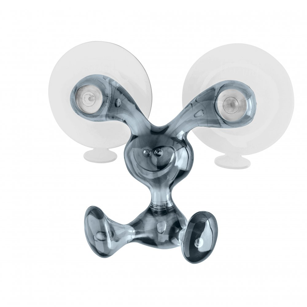 BUNNY Wandhaken transparent grey