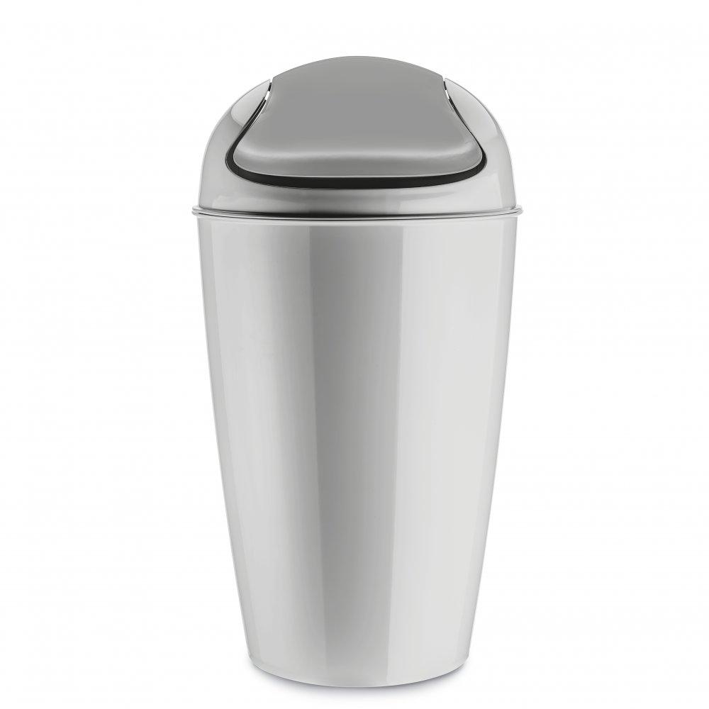 DEL XL Swing-Top Wastebasket 30l soft grey