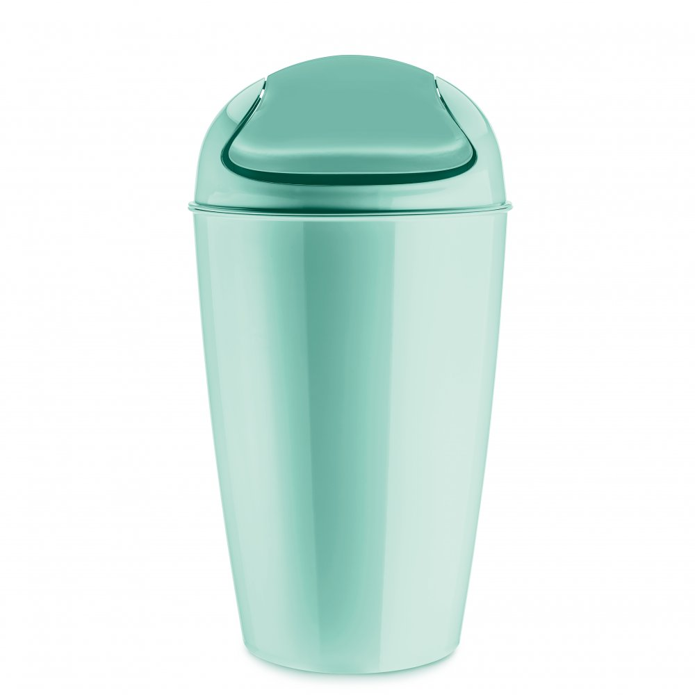 DEL XL Swing-Top Wastebasket 30l spa turquoise