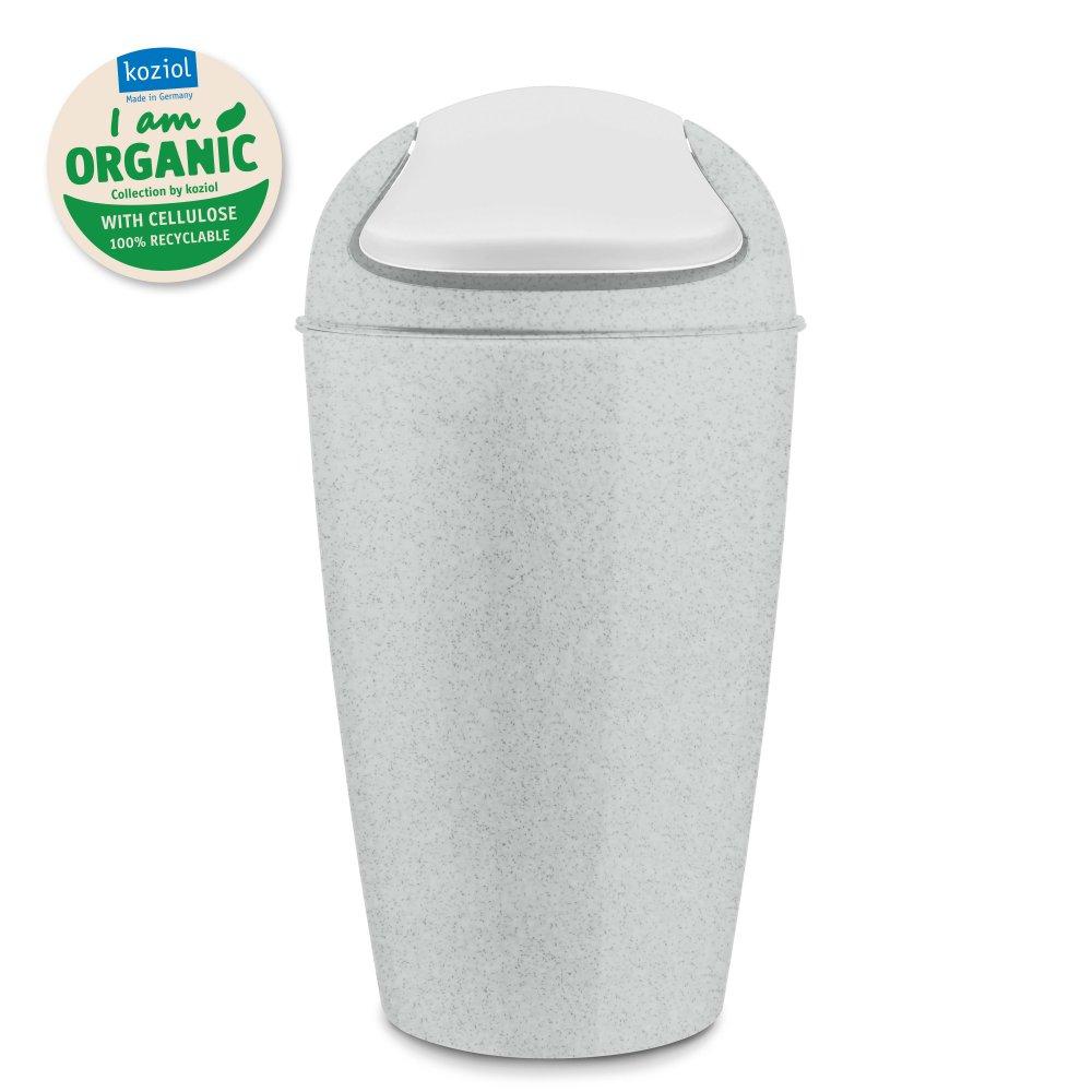 DEL XL ORGANIC Schwingdeckeleimer 30l organic grey