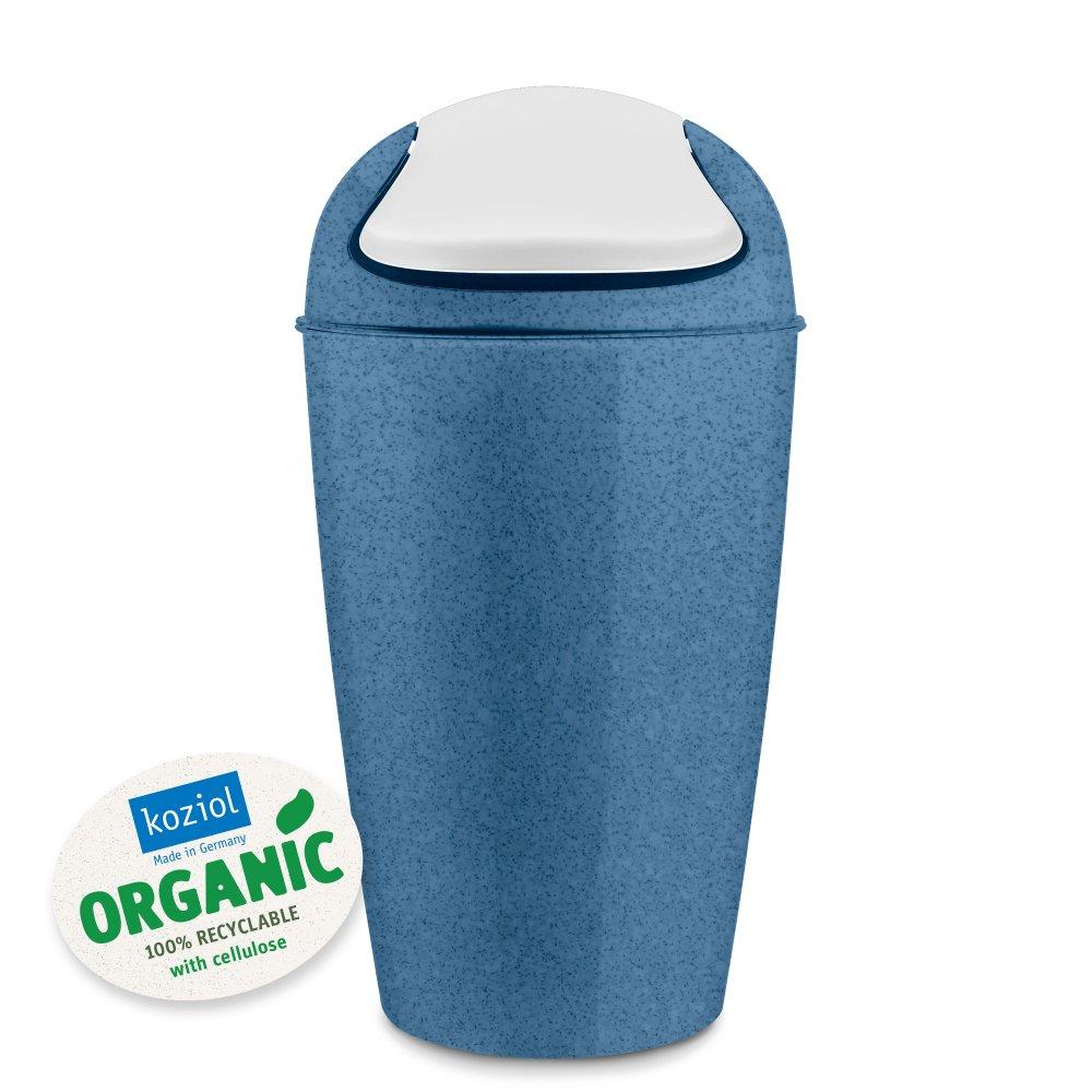 DEL XL ORGANIC Swing-Top Wastebasket 30l organic deep blue