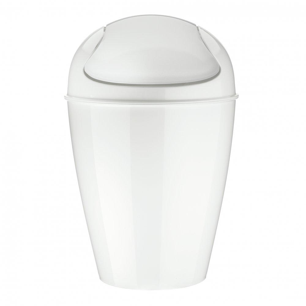 DEL M Swing-Top Wastebasket 12l cotton white