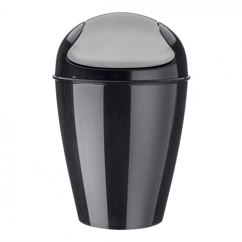 DEL M Swing-Top Wastebasket 12l cosmos black