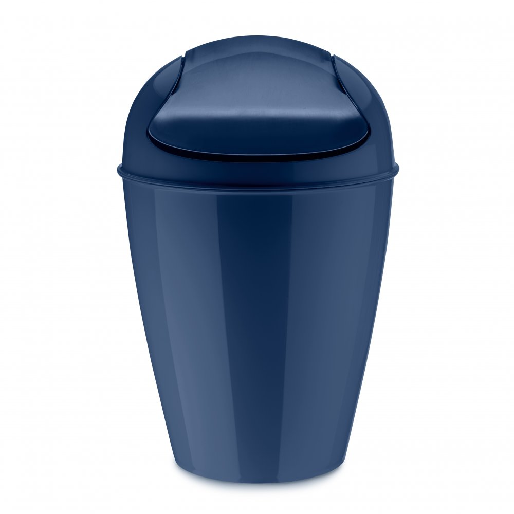 DEL M Swing-Top Wastebasket 12l deep velvet blue