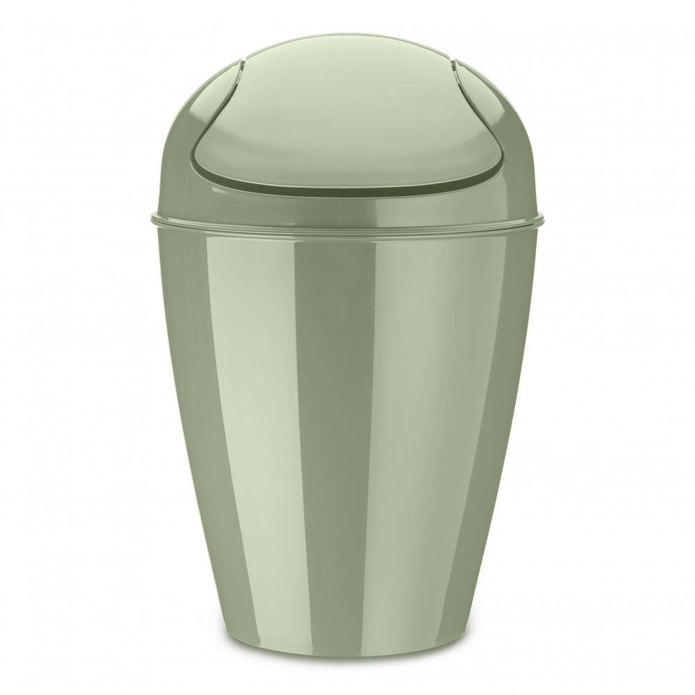 DEL M Swing-Top Wastebasket 12l eucalyptus green