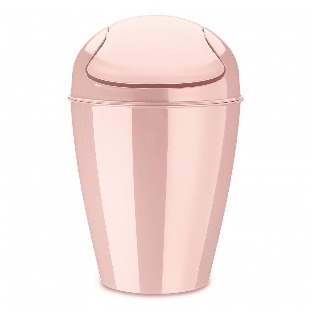 DEL M Swing-Top Wastebasket 12l queen pink