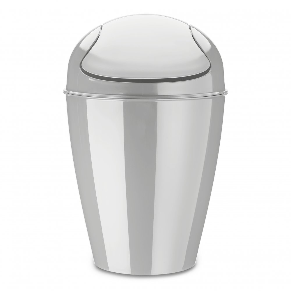 DEL M Swing-Top Wastebasket 12l soft grey