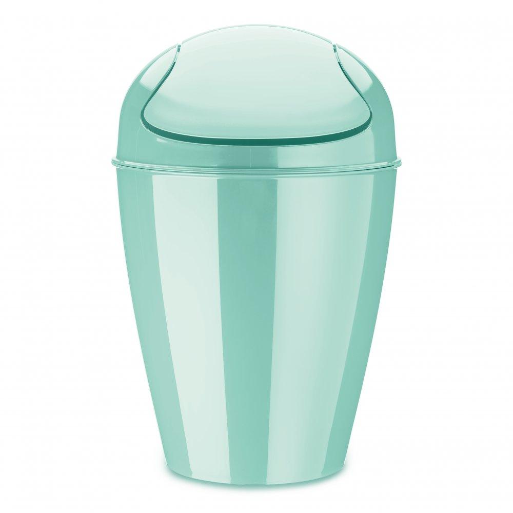 DEL M Swing-Top Wastebasket 12l spa turqoise