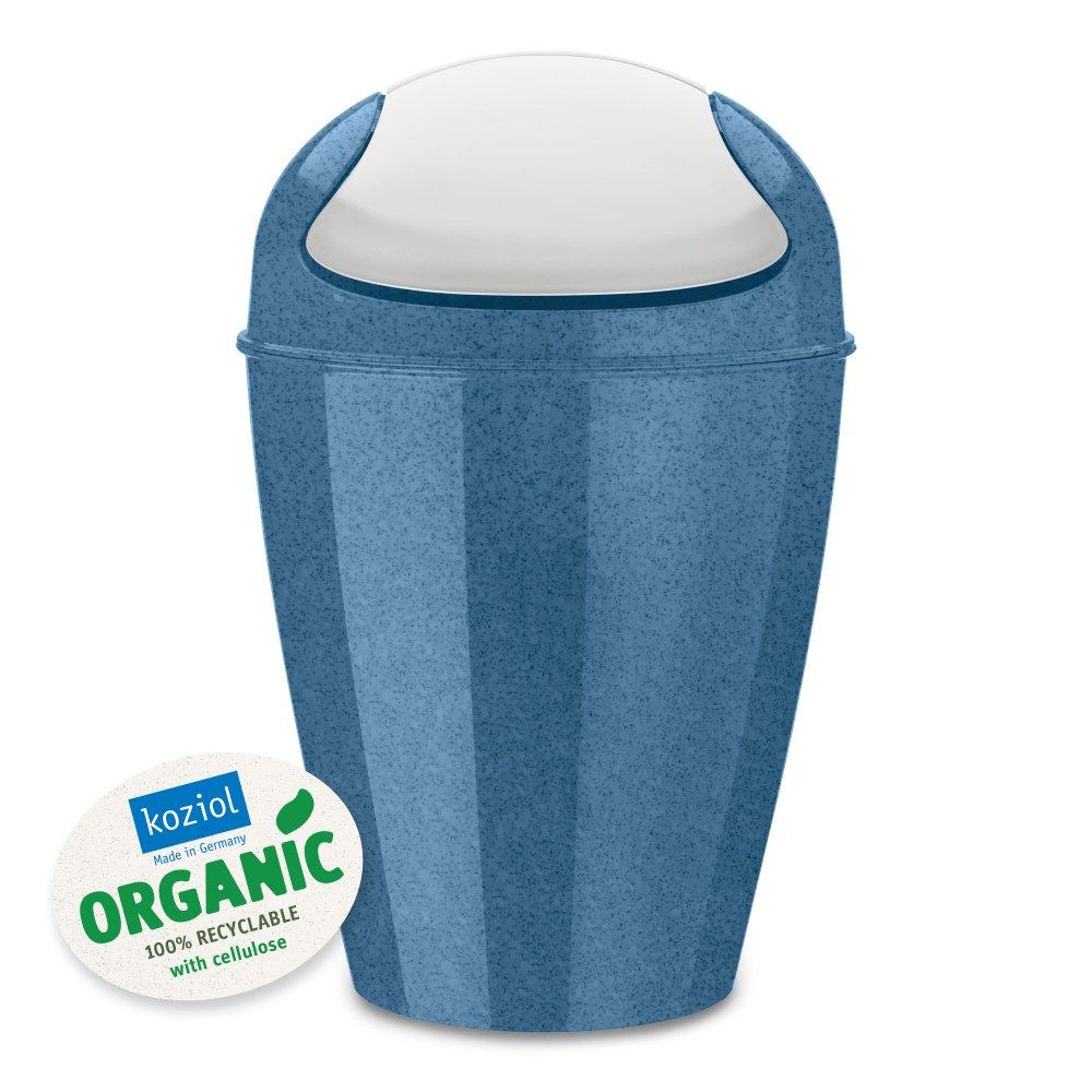 DEL M ORGANIC Schwingdeckeleimer 12l organic deep blue