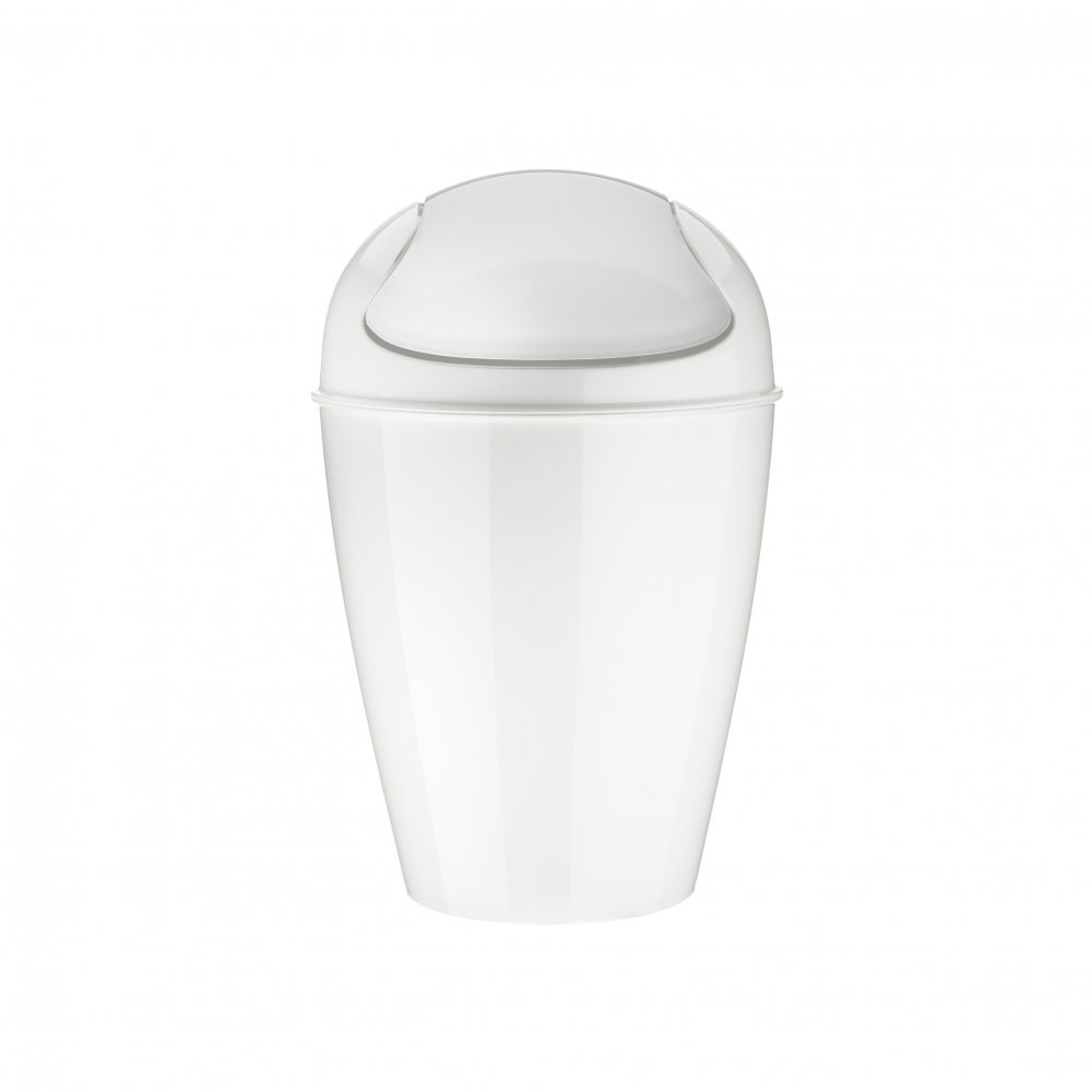 DEL S Swing-Top Wastebasket 5l cotton white