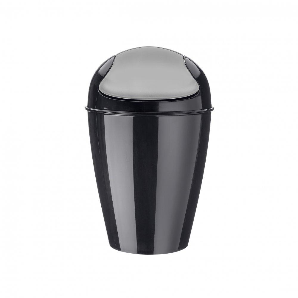 DEL S Swing-Top Wastebasket 5l cosmos black