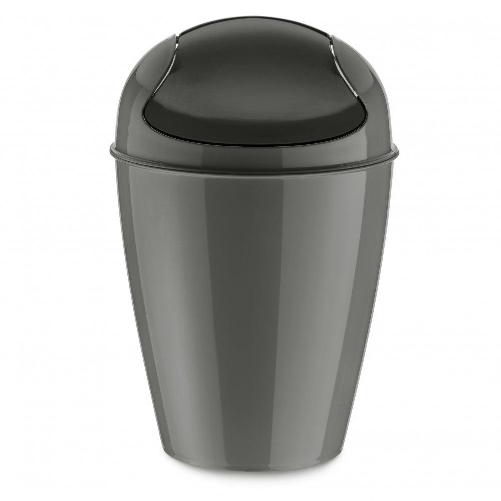 DEL S Swing-Top Wastebasket 5l deep grey