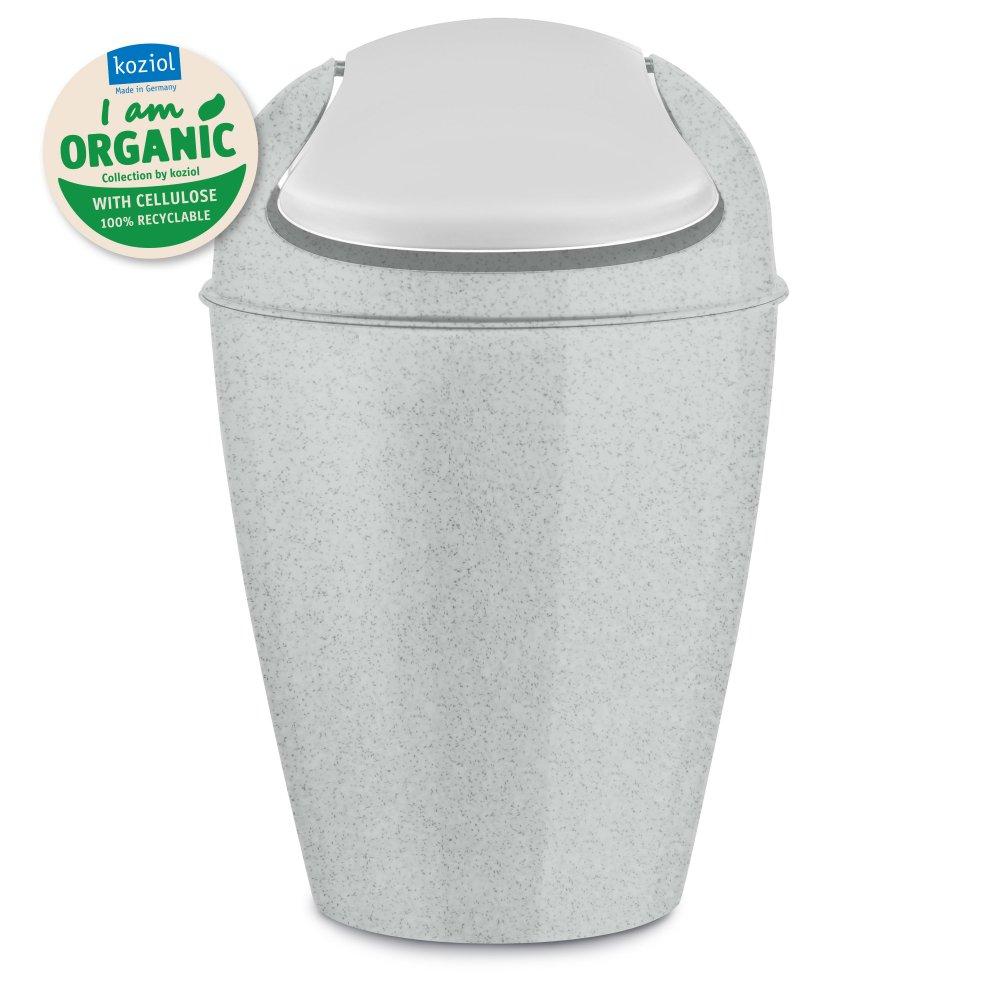 DEL S ORGANIC Swing-Top Wastebasket 5l organic grey