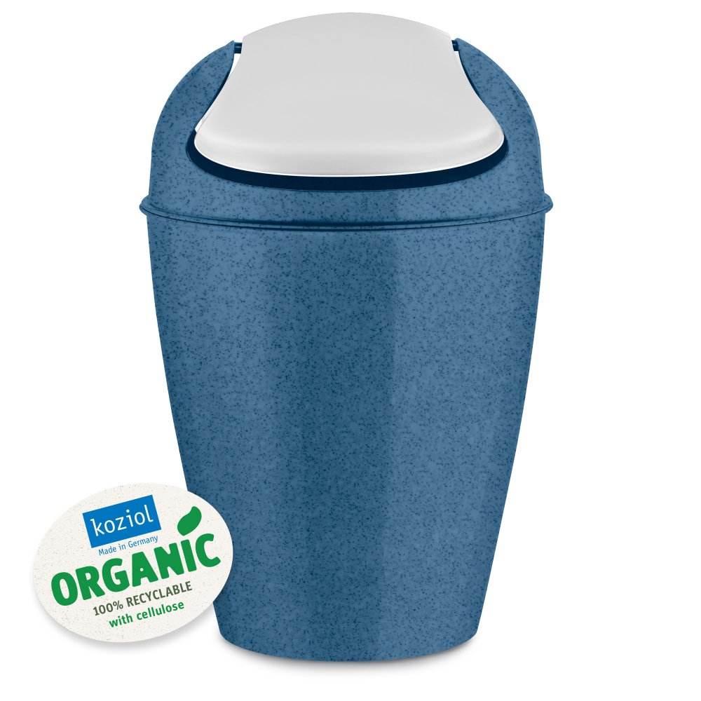 DEL S ORGANIC Swing-Top Wastebasket 5l organic deep blue