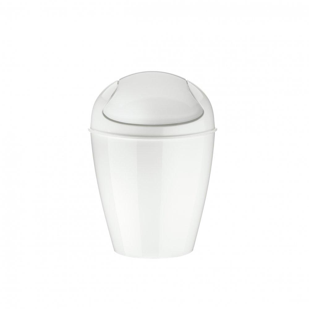 DEL XS Swing-Top Wastebasket 2l cotton white
