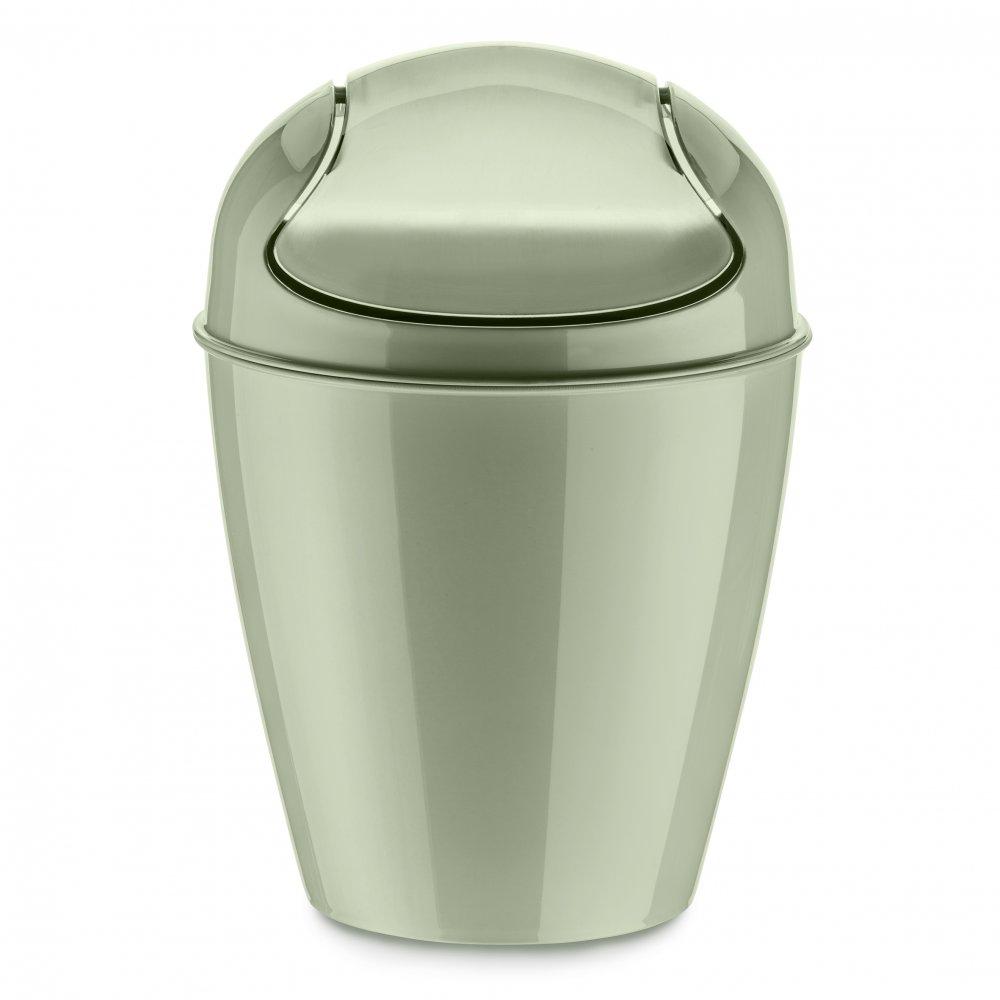 DEL XS Swing-Top Wastebasket 2l eucalyptus green
